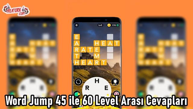 Word Jump 45 ile 60 Level Arasi Cevaplari