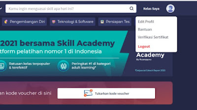 Edit nama di profil skill academy