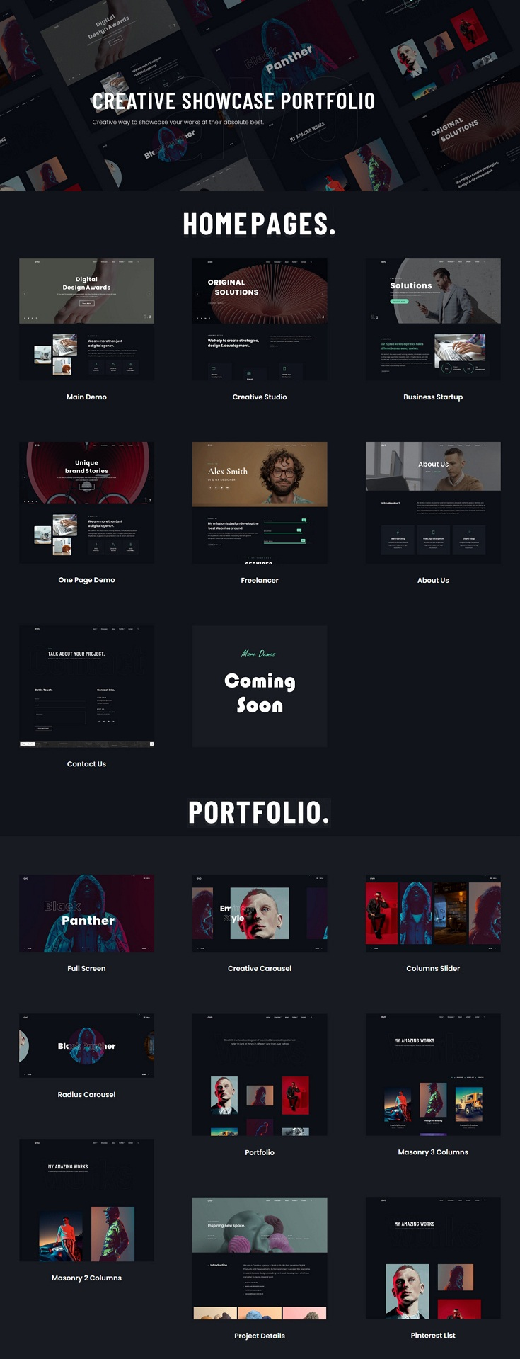 Creative Agency & Showcase Portfolio Theme
