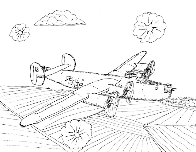 Robin's Great Coloring Pages: P-51 Mustang on D-Day
