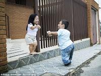 Pasangan Terpendek di Dunia yang Menikah