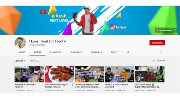 Bikash Chetry Youtube Channel top assamese youtuber list
