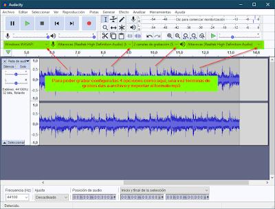 Grabar el audio de tu PC con Audacity
