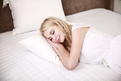 A girl sleeping.