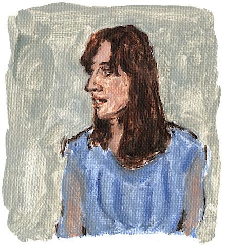 Leslie Feist illustration portrait oil painting fan art