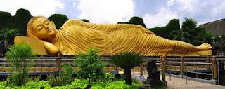 Tempat Wisata Mahavihara Majapahit Patung Budha Tidur
