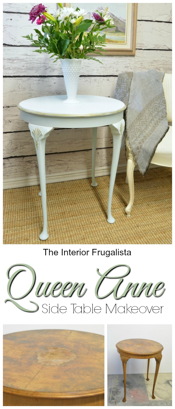 Queen anne table cooled with icicle the interior frugalista queen anne side table before and after geotapseo Choice Image