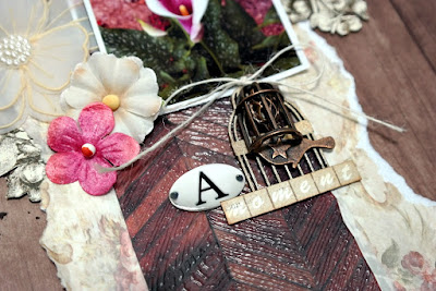 Bird Cage Embellishment Title Spot by Dana Tatar for Scraps of Darkness