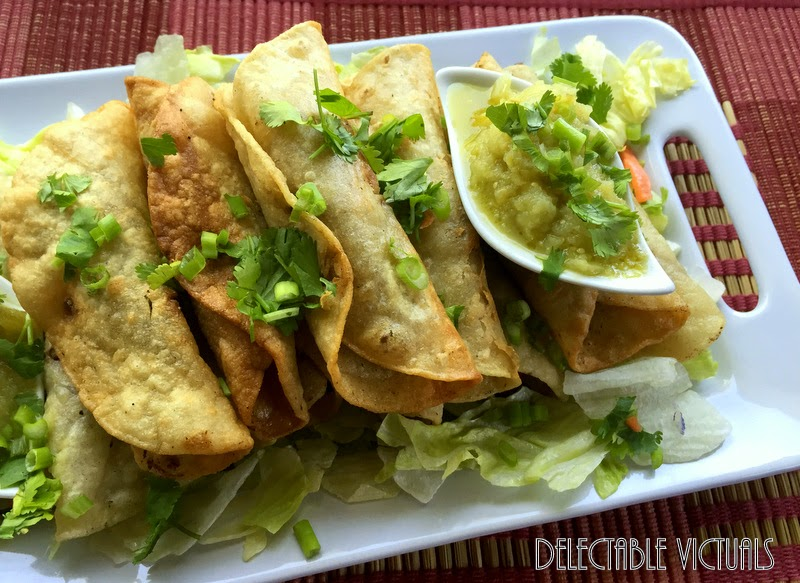 Fig and Dark Cocoa Chicken Taquitos or Flautas