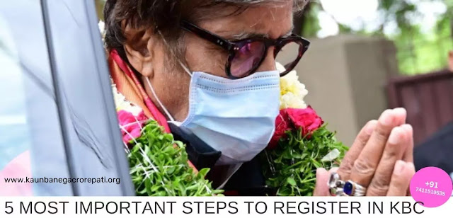 five Most Important Steps for registration