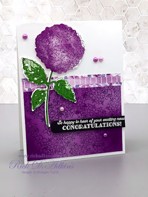 How to create a Bold Embossed Resist Card using the Hydrangea Haven and Many Messages Bundles by Stampin' Up! Click to learn more