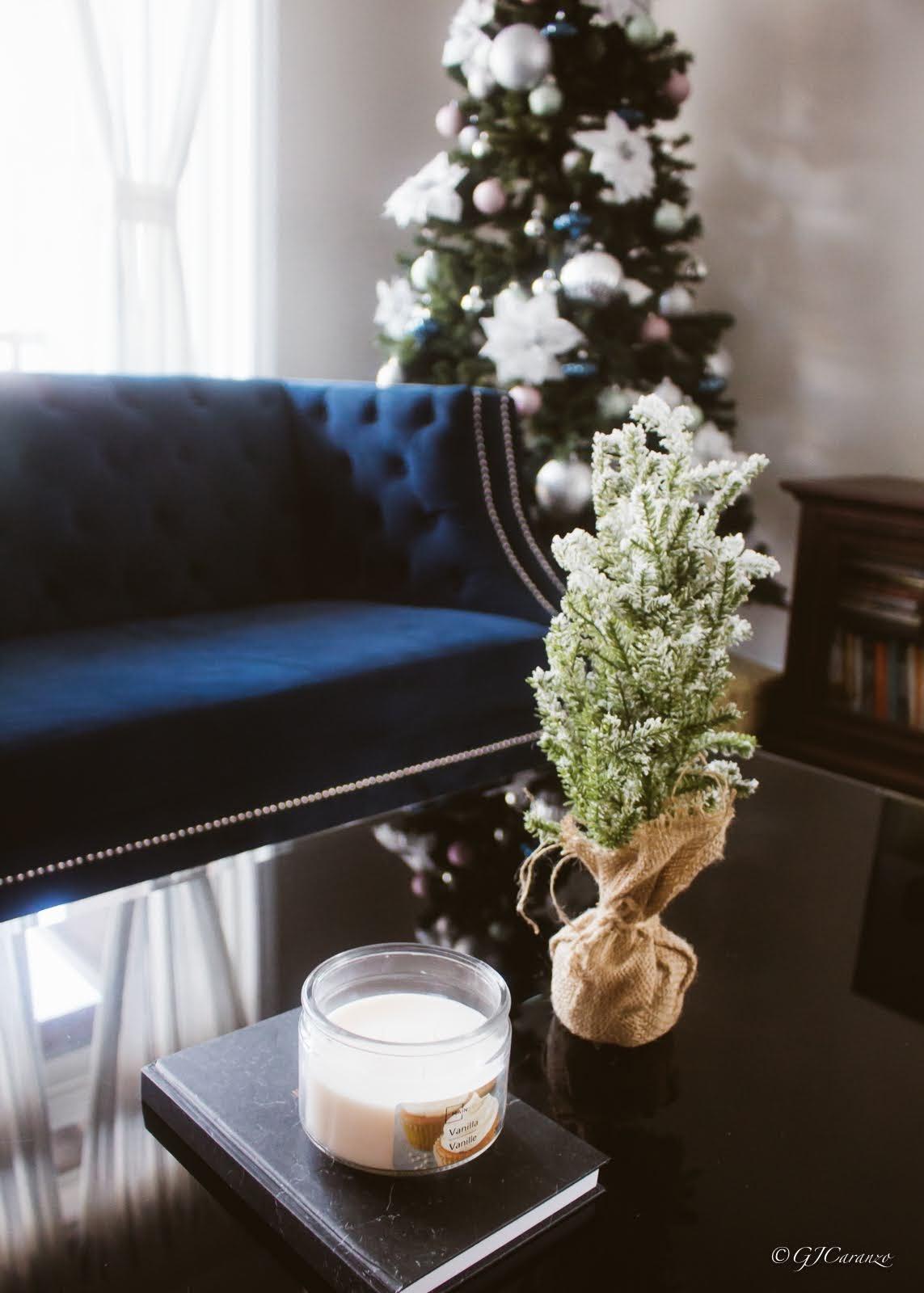 Coffee Table Christmas Decor for Less