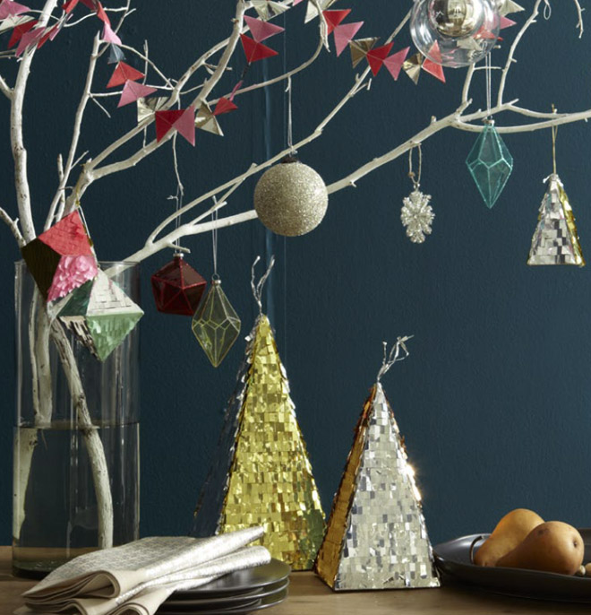 West Elm Christmas Ornaments.Holiday Decor Inspiration From West Elm Poppytalk