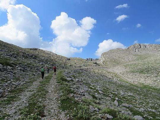 Przed przełęczą pod Liakourą.