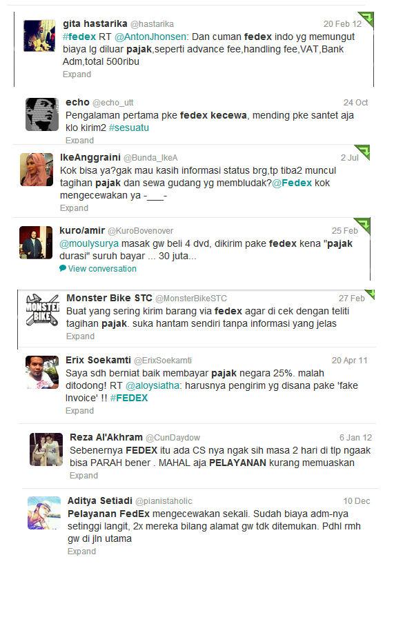 Untuk Fedex Indonesia Mohon Dengar Keluhan Costumer Kalian