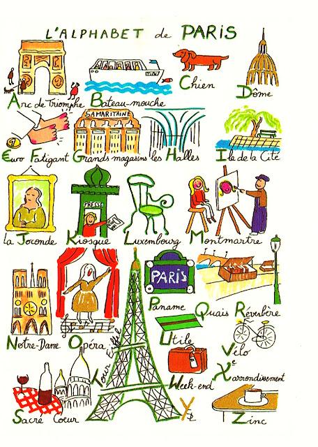 Alfabet z Paryżem - alfabet - Francuski przy kawie