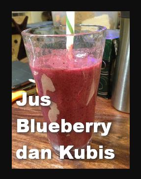 Jus Kombinasi Blueberry dan Kubis