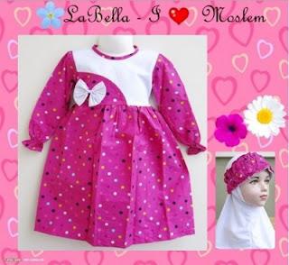 Baju Muslim Bayi Perempuan Umur 3 Bulan
