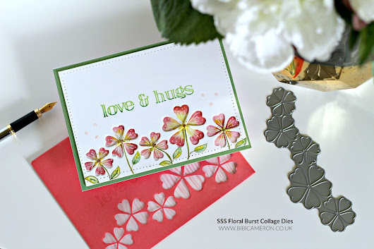 Die Cut Colouring ideas with SSS Floral Burst Collage Die