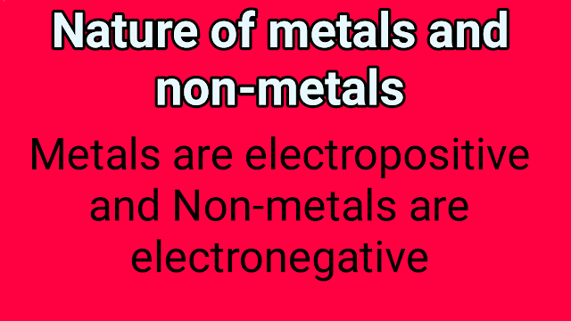 nature of metals and non-metals