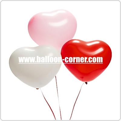Balon Latex Hati Kualitas SUPER GRADE 'A'