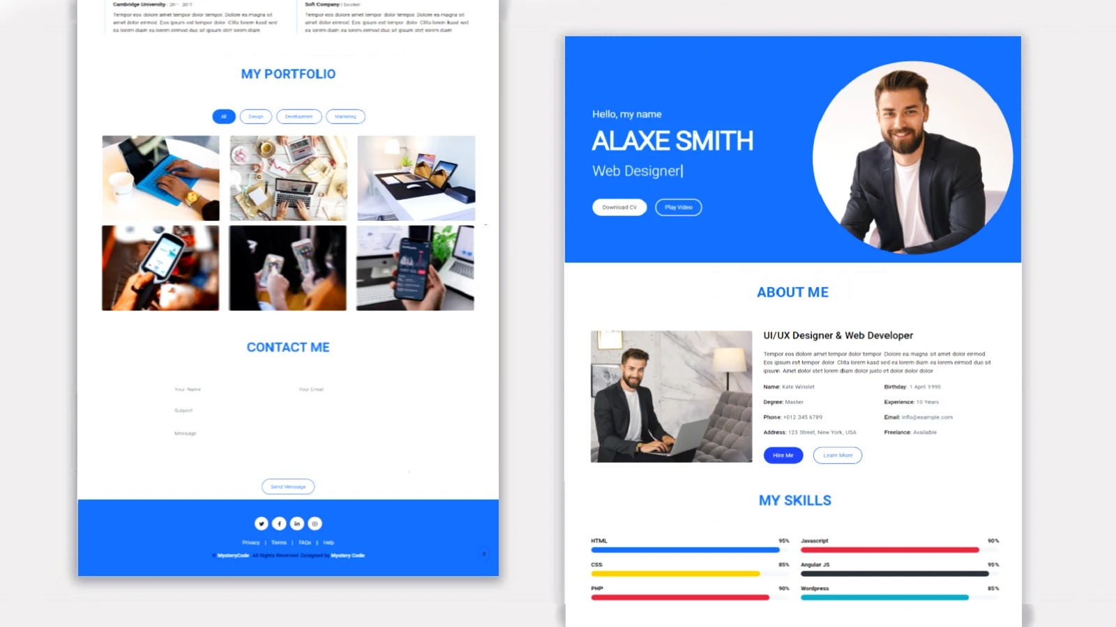 Personal Portfolio Website Using HTML, CSS and Bootstrap