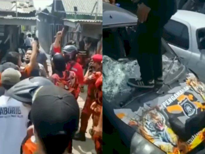 Duh! Ormas PP dan GMBI Terlibat Bentrok di Gombong Kebumen, Markas & Lima Mobil Anggota Rusak Parah