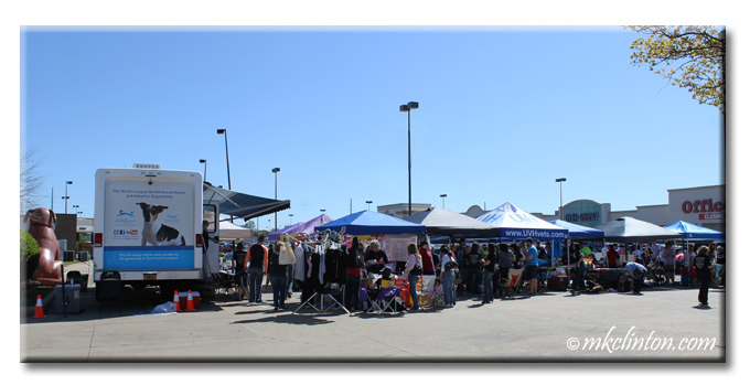 View of mobile Pet Adoption unit and event