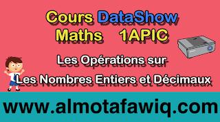 Cours DataShow 1APIC - Les Opérations sur les nombres entiers et décimaux PDF