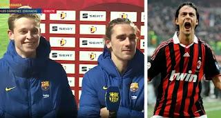 Griezmann jokingly compares De Jong to Inzaghi after Frenkie's poacher goal vs Granada