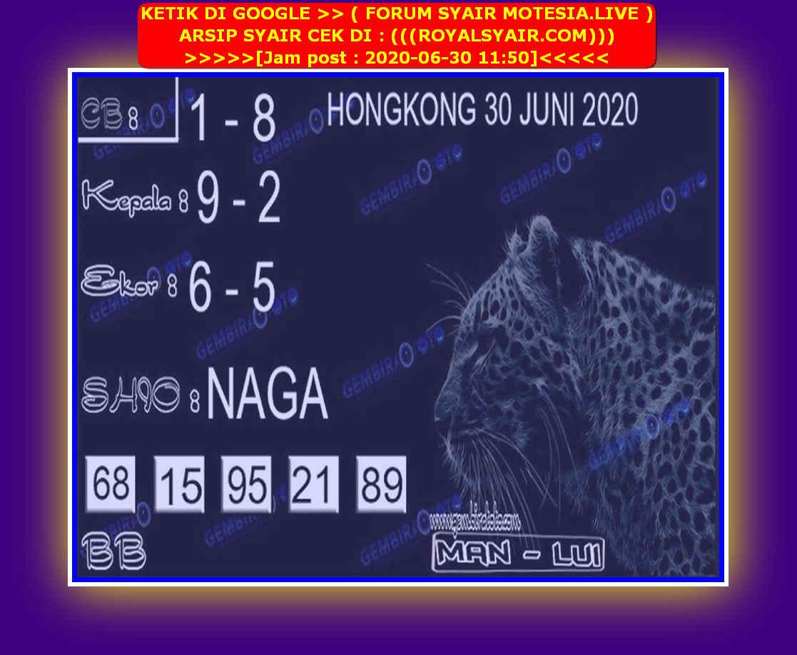 Kode syair Hongkong Selasa 30 Juni 2020 221