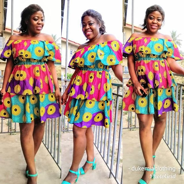 b3d6be13675 Simple Ankara Short Gown Styles 2019 For African Ladies ~ Dezango Hub