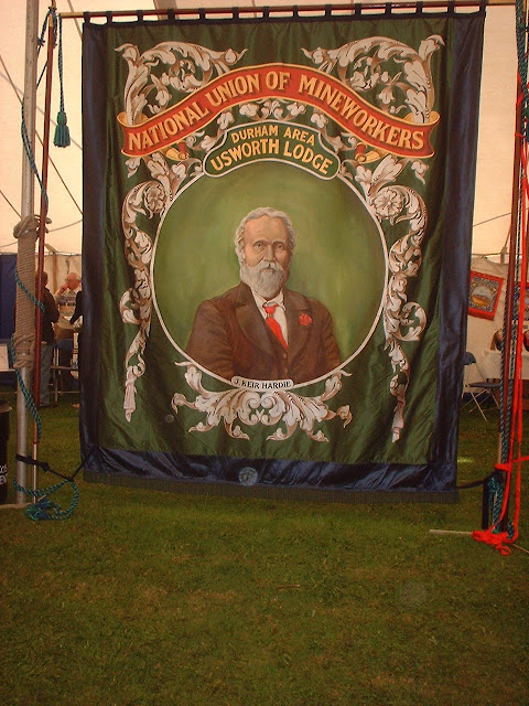 Miners banners and Durham Big Meeting