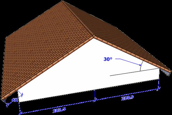 Menghitung Kebutuhan Baja Ringan Atap Jurai Perhitungan Genteng Pada Pelana Konstruksi Sipil