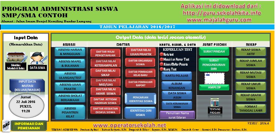 Download Aplikasi Administrasi Siswa SMP SMA Kurikulum 2013 dan Cetak Amplop Terbaru (New Update)