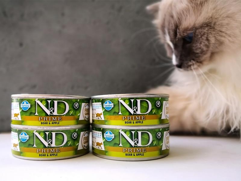 Test karmy mokrej N&D – trzy linie, Farmina, Natural&Delicious, N&D Prime recenzja