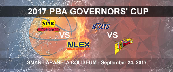 List of PBA Game(s) Sunday September 24, 2017 @ Smart Araneta Coliseum
