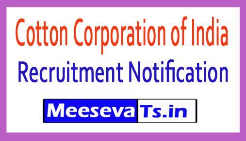 Cotton Corporation of India CCI Recruitment