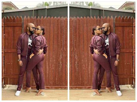 """""""Power couple"""" - See Reactions As Banky W and Adesua Step Out In A Matching Outfit (VIDEO)"""