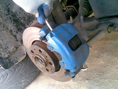 Desmontar pinza para cambiar discos en ford,seat