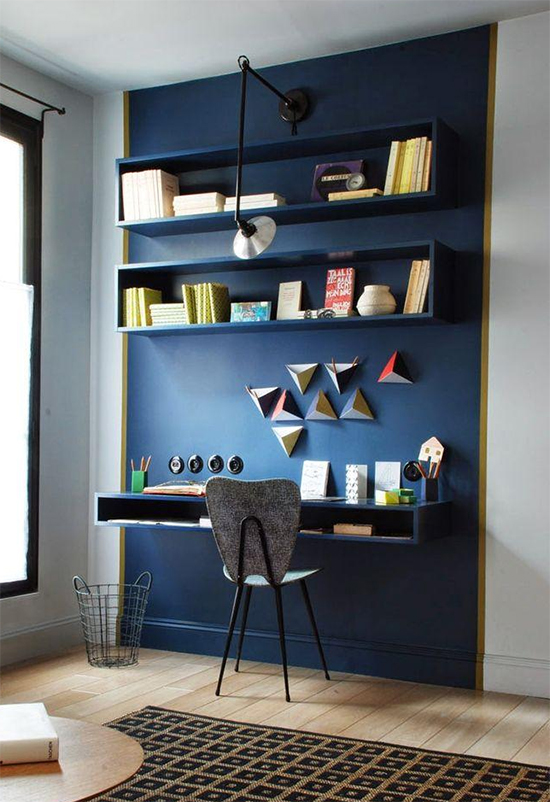 home office, parede azul, a casa eh sua, acasaehsua, decor, home decor, home, interior
