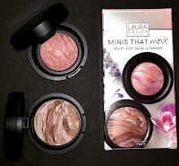 review MINI'S THAT MOVE bronze-n-brighten MEDIUM blush-n-brighten TROPIC HUES travel size blush bronzer Laura Geller cosmetics