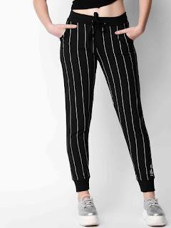 Black-Stripped-Slim-Yoga-Pant