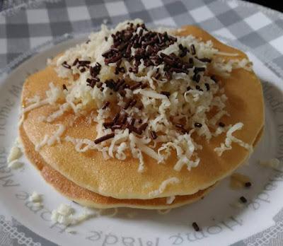resep pancake keju cokelat haan pancake