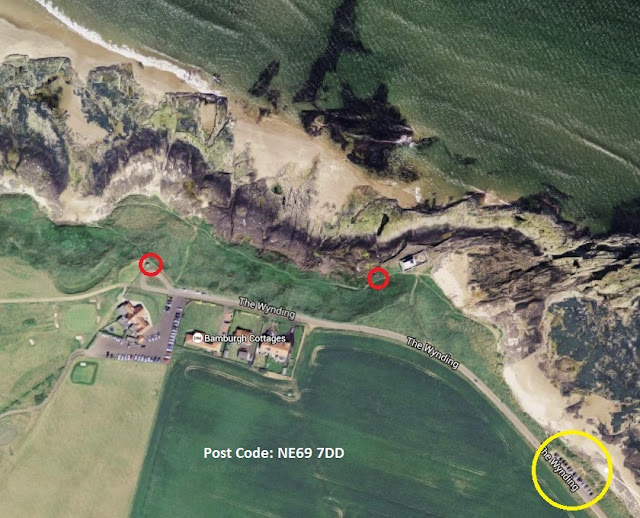 Black Scoter Map - Stag Rocks, Bamburgh, Northumberland