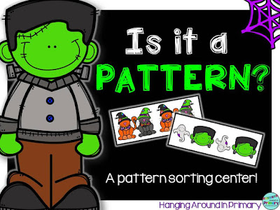 Use this FREE patterning center to practice identify patterns and non-patterns.
