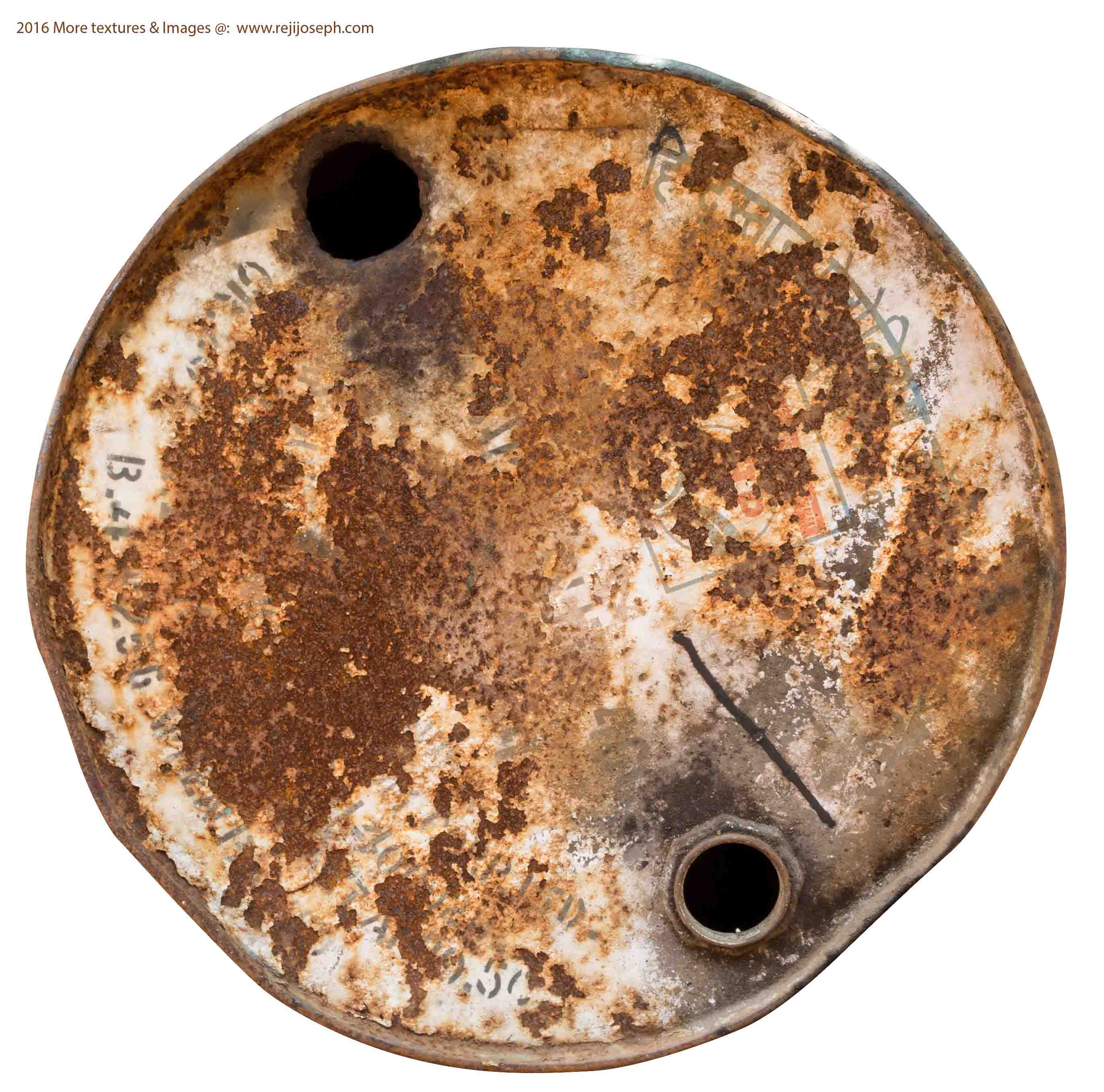 Rusty metal Oil can texture 00021