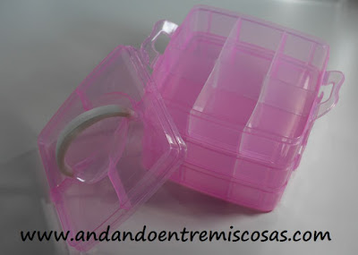 Organizador apilable en color rosa