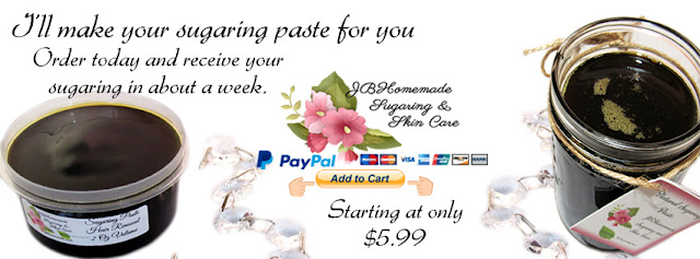 I'll make your sugaring paste for you! Order today and receive your sugaring in about a week. Starting at only $5.99