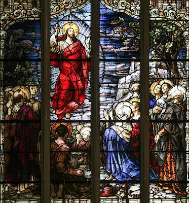 Imagem da Ascensão de Jesus Cristo ao Céu, vitral, #1